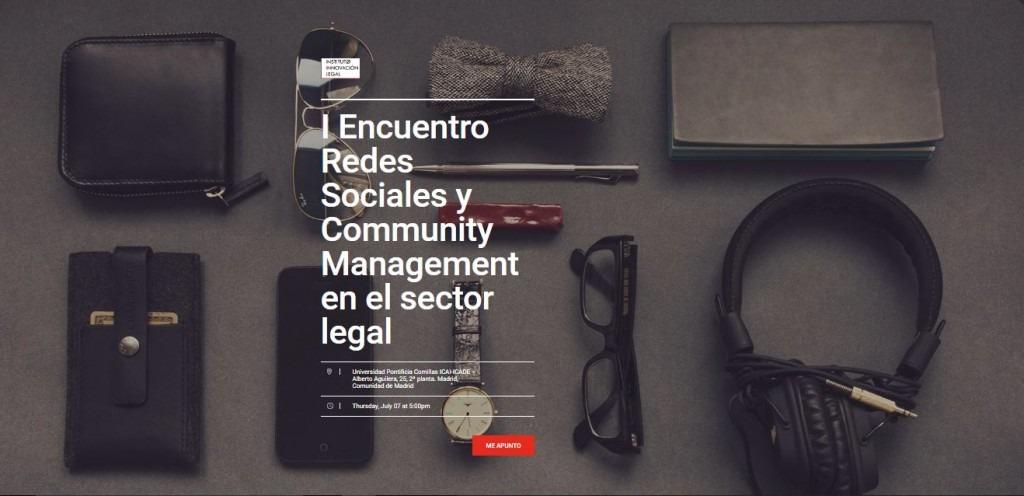 I Encuentro Redes Sociales y Community Management en el sector legal
