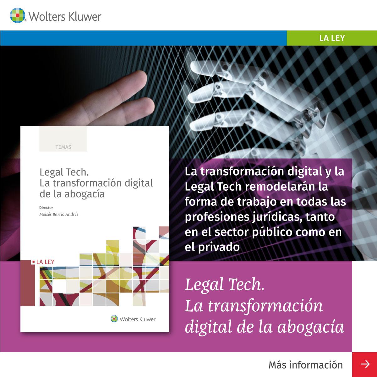 Libro: Legal Tech. La transformación digital de la abogacía