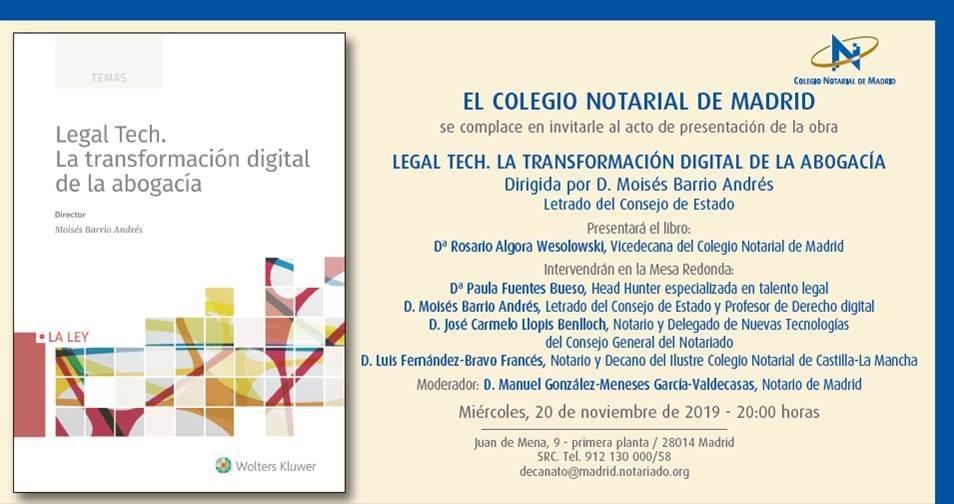 Presentación: Legal Tech. La transformación digital de la abogacía